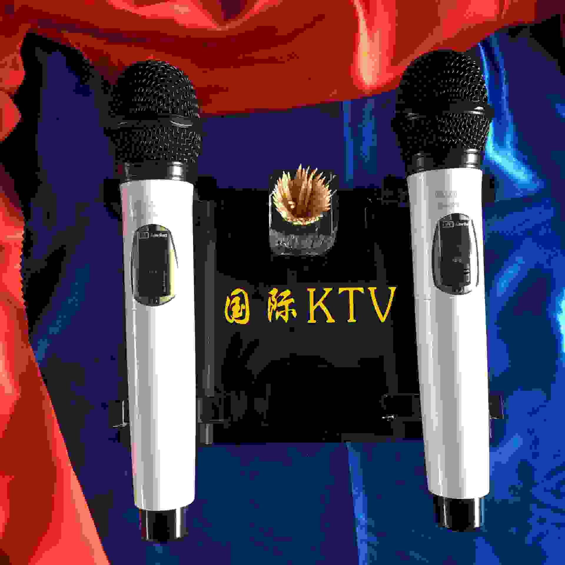 水晶话筒架 KTV水晶麦克风架可定制logo话筒底座创意水晶工艺品