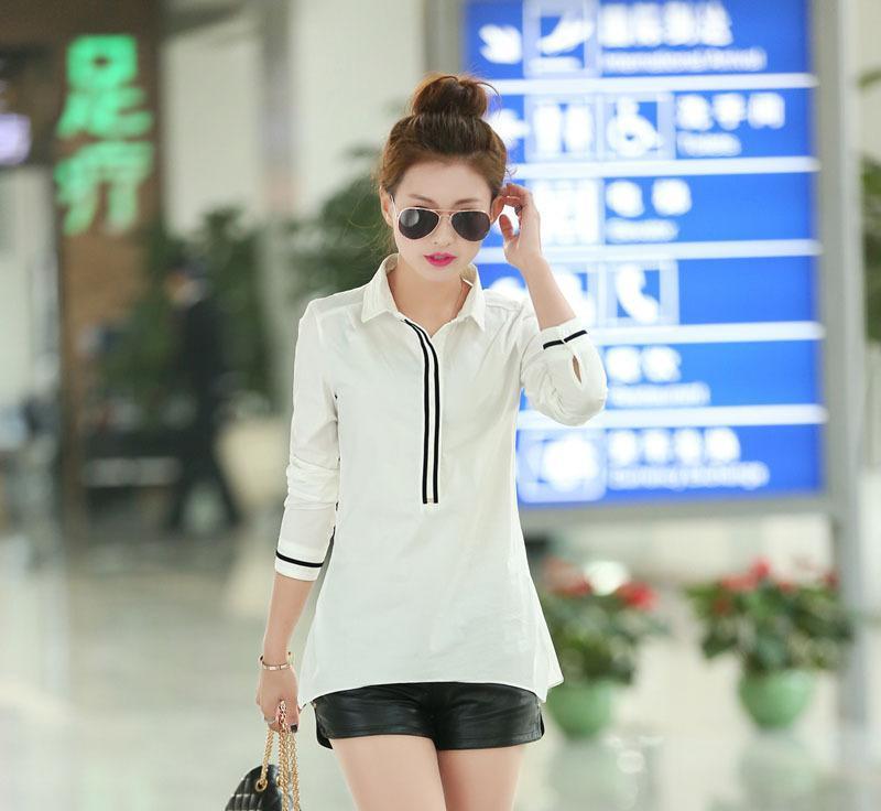 巴巴女装代理网络一件代发日韩一件代发衬衫女031160