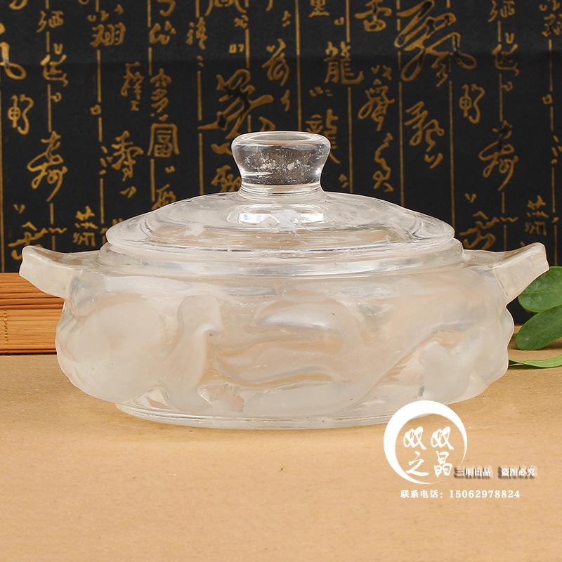 我厂供应水晶锅 火锅 泡泡锅 水晶雕刻锅 高档厨房锅具批发可定制