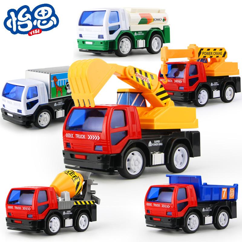 耐摔无毒环保惯性工程玩具车 多款式任选地摊热卖玩具车批发