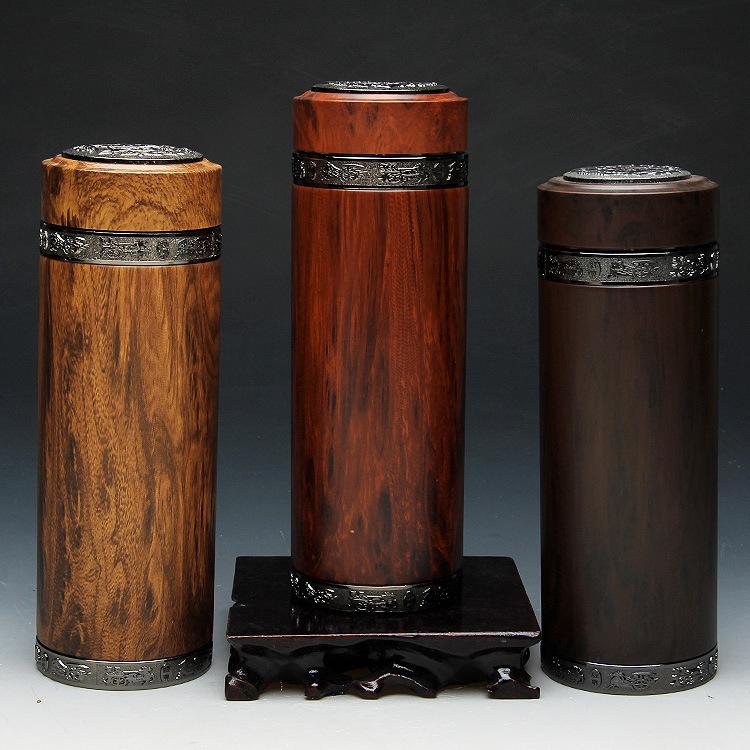 宜兴紫砂内胆保温杯 不锈钢烤漆环保木纹杯 泡茶养身1个起批