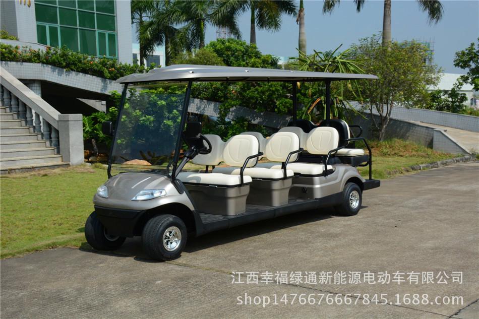 贛州電動看房車 景區觀光車 8座高爾夫球車價格  幸福綠通觀光車電動老爺觀光車景區用