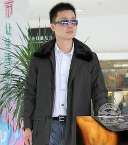 毛皮黄金貂内胆尼克服进口水貂翻领男装韩国记忆丝皮草外套