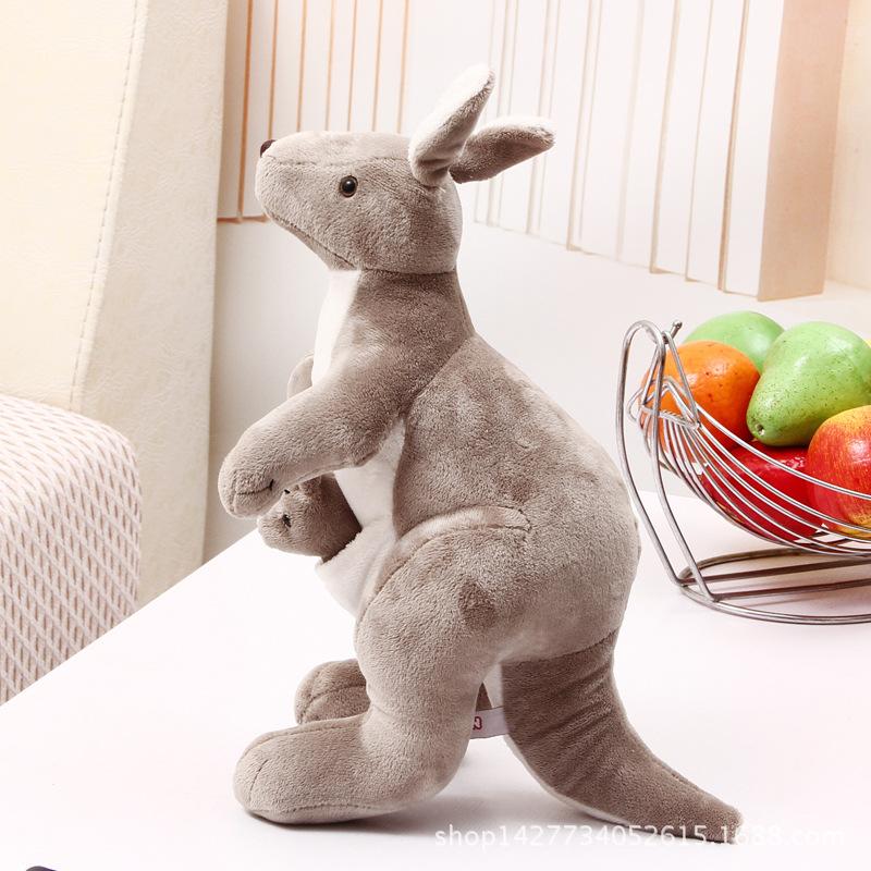 正品nici袋鼠毛绒玩具公仔亲子互动生日礼物
