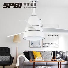 隐形风扇灯 吊扇灯客厅餐厅卧室家用简约现代带LED的伸缩风扇吊灯0