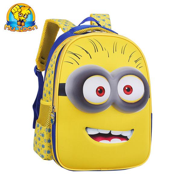 小学生书包儿童小黄人包包1-3年级男女生小孩卡通可爱双肩背包图片