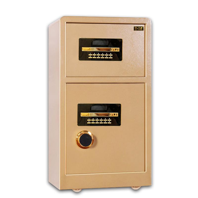 批量供应九虎LH-80 双门家用保险柜 电子密码锁超大空间防盗报警
