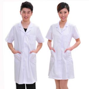 医用短袖涤平白大褂 护士服 实验服 医生服 医师服厂家直销