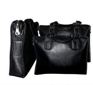 经典男士 时尚 手提单肩斜跨 牛皮 皮包 商务休闲包