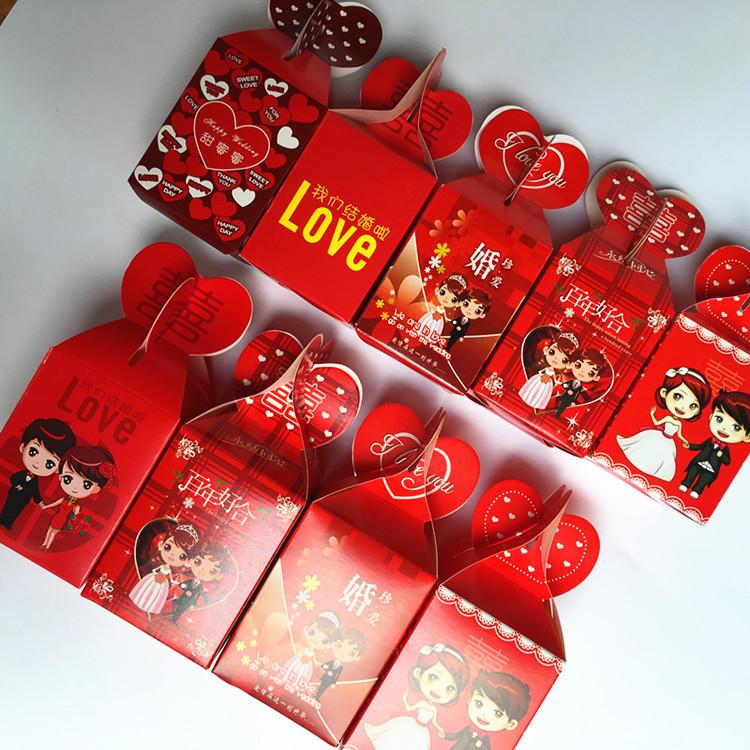 婚庆结婚用品厂家批发 喜糖盒子 创意喜糖袋结婚用品 中式喜糖盒
