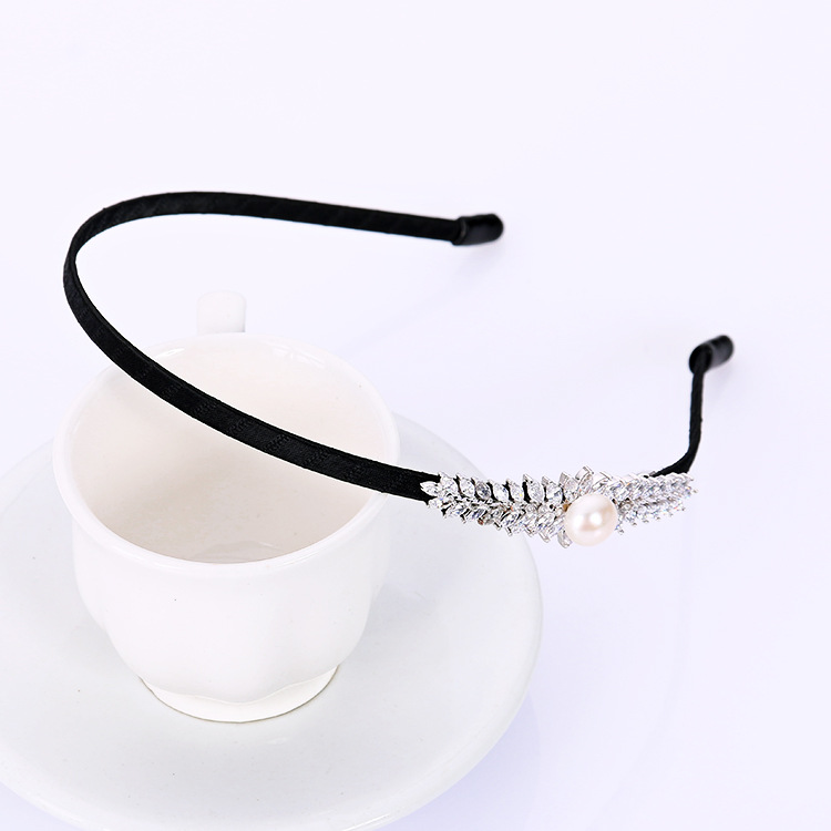 廠家直銷 天然珍珠瓖鋯石韓版時尚精美發箍【四個款式】發箍批發
