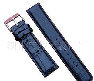 厂家供应大量中低档皮革表带 手表带