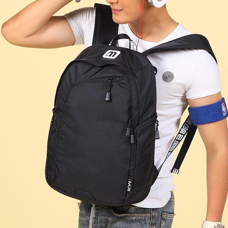 双肩包男士休闲旅行背包双肩包男电脑包大学生书包男时尚潮流usb