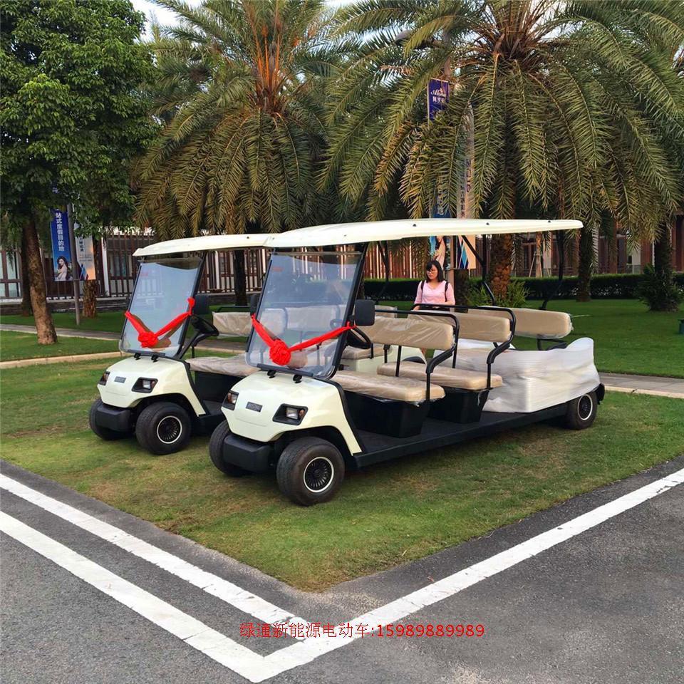 新型改款高尔夫球车 电动高尔夫球车楼盘高尔夫电动看房车 幸福绿通八人座观光车