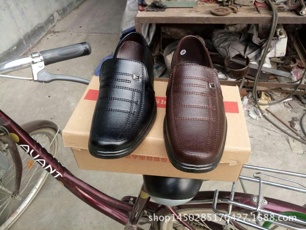 地摊鞋 低价鞋 处理鞋 注塑皮鞋 革面鞋厂家直销正单