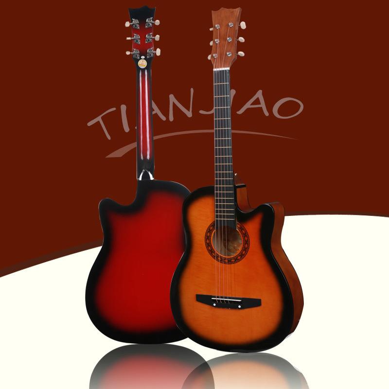 38寸椴木民谣吉他练习琴乐器琴行培训 初学者入门吉他