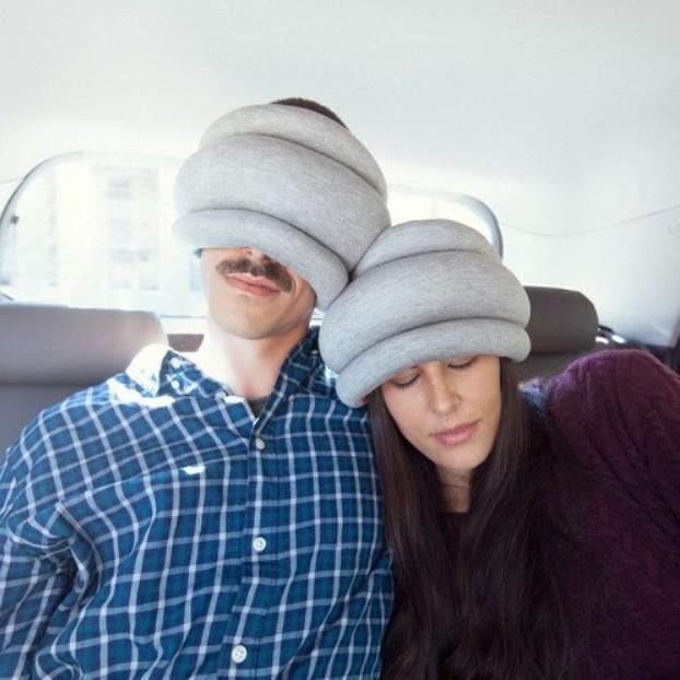 欧美创意多功能鸵鸟保健枕头午睡枕颈枕 办公旅行头枕手靠枕 厂家