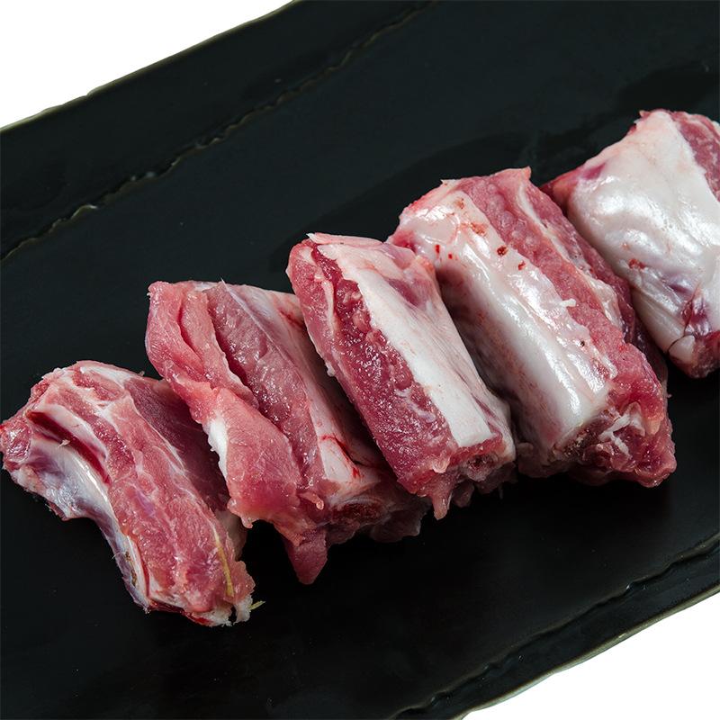 神帝 黑猪排骨(含脊骨) 神农架黑毛爬山猪肉 顺丰配送 [500g]图片