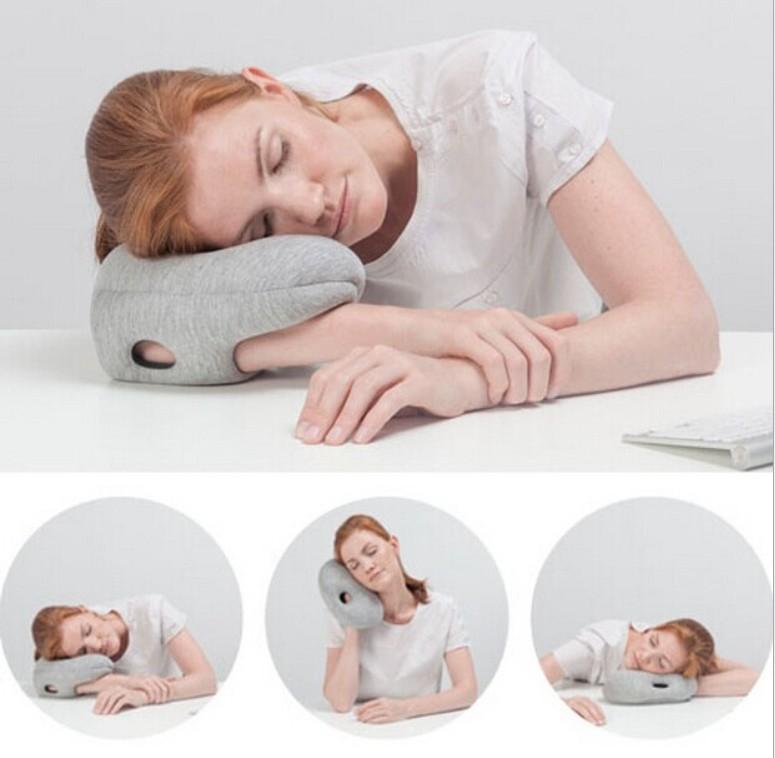 专利英国神奇鸵鸟枕头护颈护脖枕办公室午睡枕旅行枕厂家一件批发