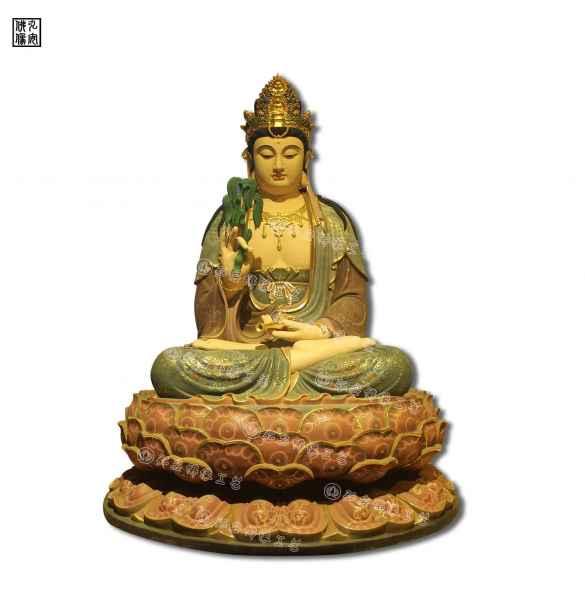 观世音菩萨坐像脱胎佛像