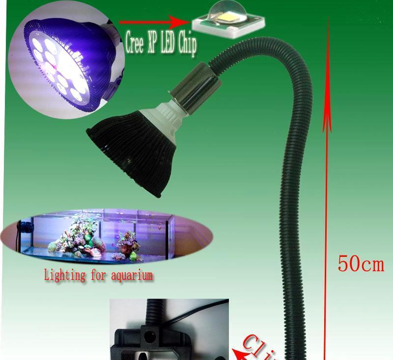 科锐24wPAR38 LED带夹具鹅颈水族灯 珊瑚 萨伊六间 水草照明灯具