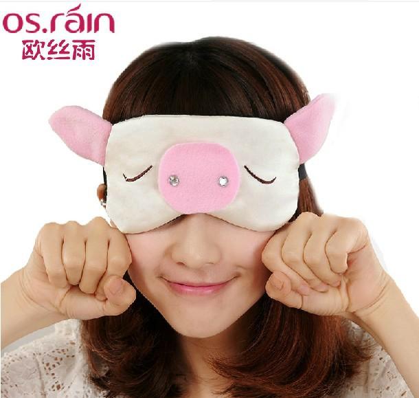 欧丝雨 100%桑蚕丝舒适护眼无痕 双面真丝眼罩睡眠 睡觉遮光 可爱