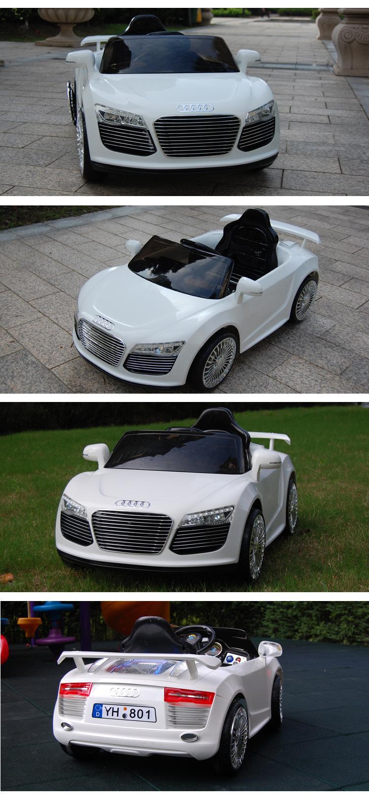 新款正品奥迪Q8儿童电动车遥控可坐小孩双驱童车批发一件代发