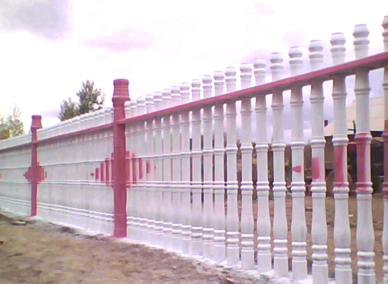水泥围墙栏杆,罗马柱1图片
