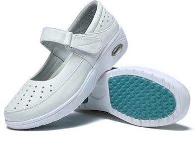 新款气垫轻底皮面护士鞋 厂家直供0