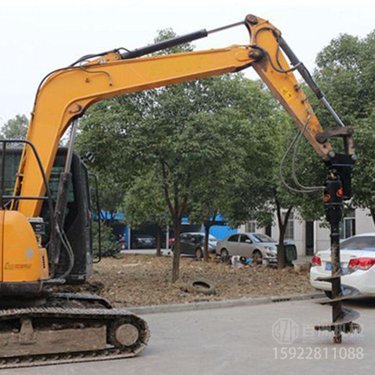 微型挖掘机配用液压螺旋钻厂家
