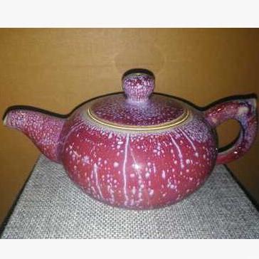 禹州神垕钧瓷手工单壶 钧瓷茶壶