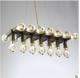 厂家批发现代简约水晶灯饰 k9水晶灯 沙古铜led水晶灯 极简家居