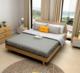 北欧纯白蜡木1.8米实木床现代简约主卧1.5米双人床婚床家具