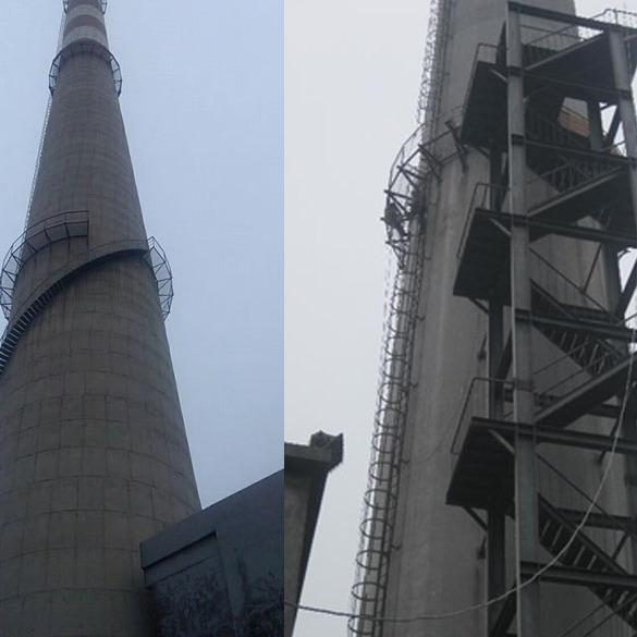 天水市烟囱旋转梯安装价格