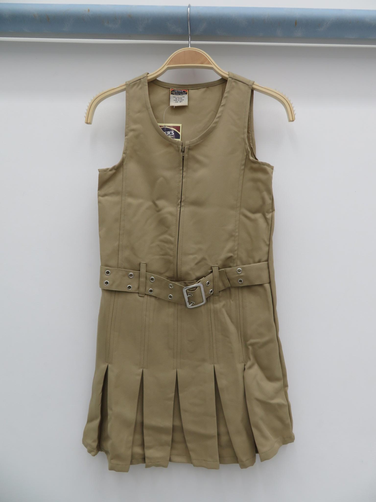 2018夏季新款外贸原单女孩束腰纯色连衣裙