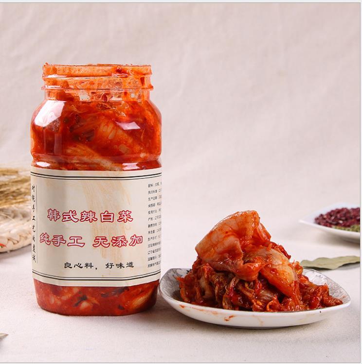 供应 经销朝鲜传统工艺腌制辣白菜 供应酸甜爽口750g袋装泡菜