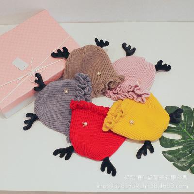 熙沐辰儿童帽子冬季**宝户外保暖毛线帽男护耳婴儿针织3-18个月
