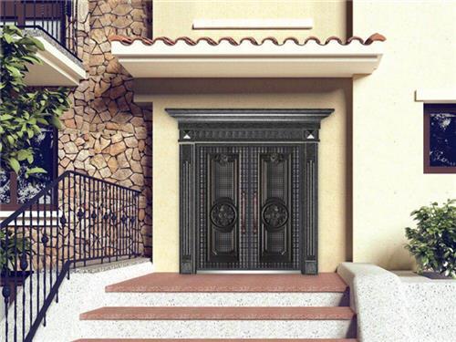 铸铝别墅庭院门生产厂家|铸铝别墅庭院门|江盾门业诚信企业