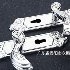304不锈钢铜锁芯室内卧室木门锁房门锁实木门锁双舌静音执手锁,机械门锁