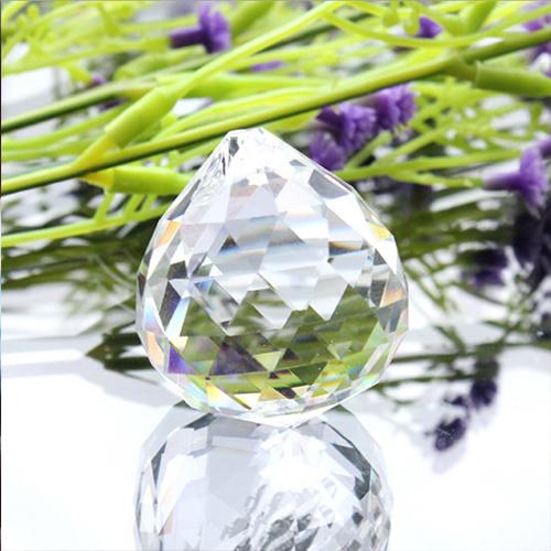 供应 水晶球灯饰配件 百搭水晶 三角面珠珠帘吊坠 家具创新隔断帘
