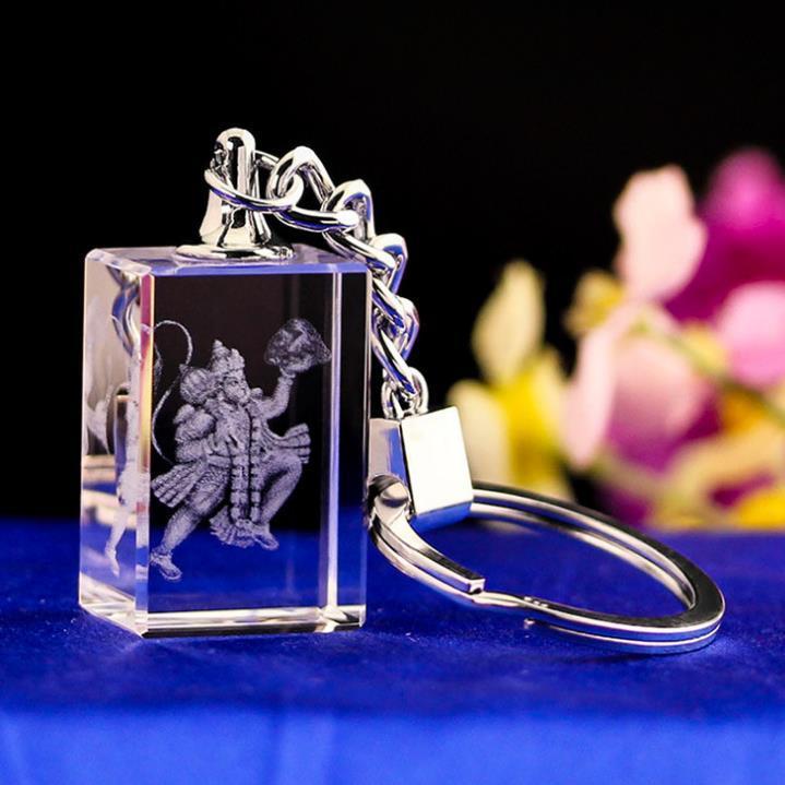 供应 水晶内雕方体钥匙扣 埃菲尔铁塔图案 水晶工艺纪念品