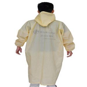 特批非一次性雨衣 淡黄色隔离细菌清理工人专用雨具