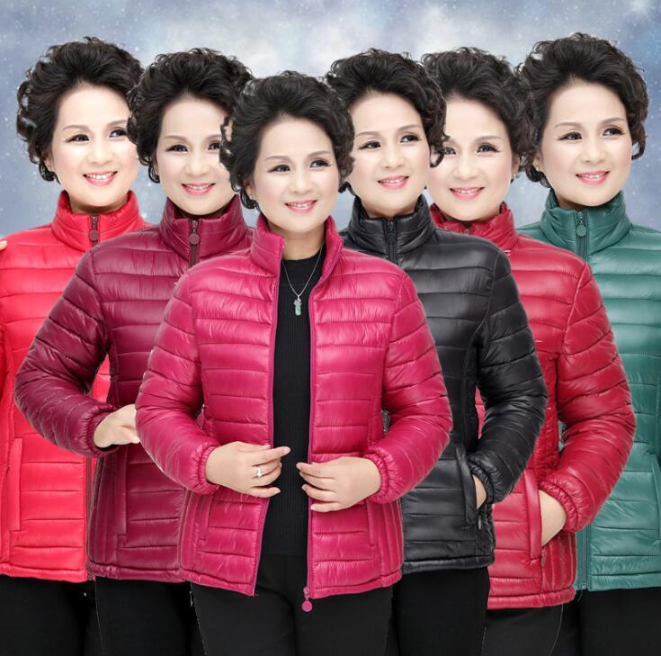热卖冬装短款棉衣中老年女装秋冬薄棉服时尚修身中年人冬季棉袄