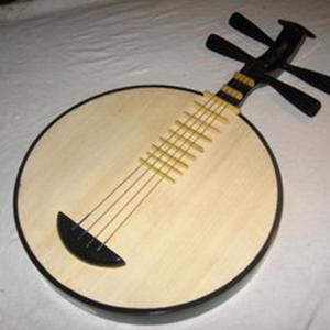 仿红木月琴民族乐器硬木京剧民乐月琴厂家直销赠琴包拨片特价
