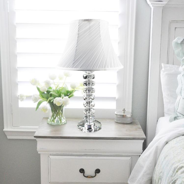 欧式台灯 奢华装饰美式水晶台灯 卧室床头灯 现代简约台灯时尚