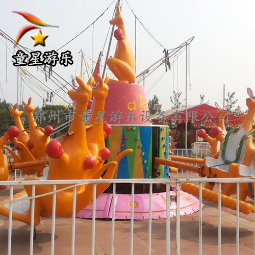 欢乐袋鼠跳童星物美价廉公园儿童新型游乐设备
