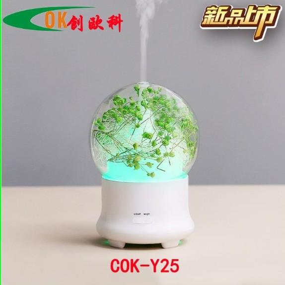 厂家直销 新品创意永生花加湿器香薰机 超声波香薰家居礼品定制