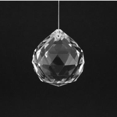 水晶灯饰球 40mm水晶球 灯饰球 水晶灯饰挂件 灯饰配件 玻璃水晶饰品配件