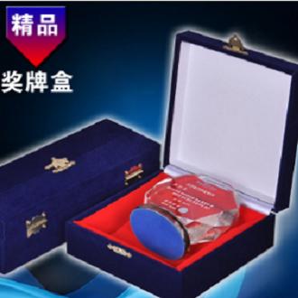 水晶奖杯盒子定制包装盒精品礼品盒加绒木盒定做厂家批发