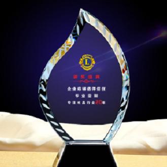 水晶创意奖杯奖牌定做同学聚会纪念品年会定制浦江工艺品厂家直销